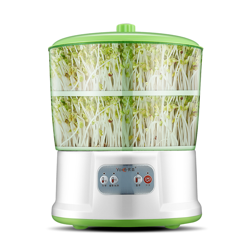 Household Fully Automatic Double Layer High Capacity Upgrade Bean Sprouts Maker Bean Sprouts Growing Machine Free Shipping bear three layers of bean sprouts machine intelligent bean sprout tooth machine dyj b03t1