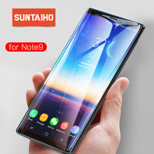 Suntaiho 3D Tempered Glass for Samsung Galaxy Note9 Galaxy S9 plus Full Cover Screen Protector Galaxy A8 A9star Note8 A6 S8 film