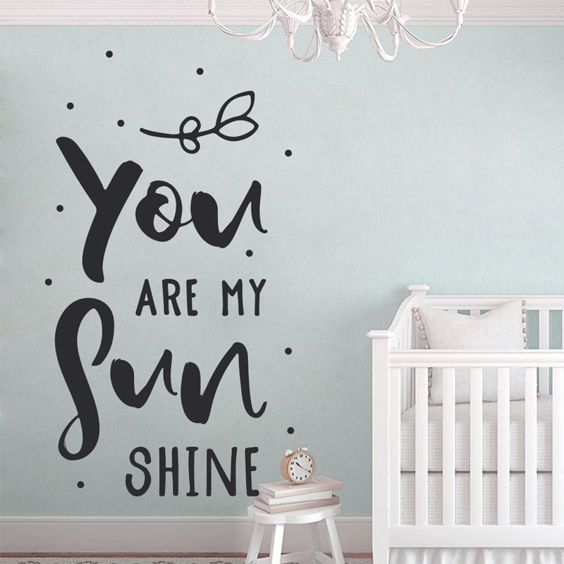 You Are My Sunshine Wall Art Decal