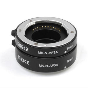 Meike MK N AF3A Metal Mount Automatic AF Auto Focus Macro Extension Tube Ring For