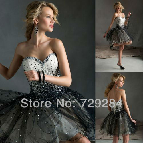 Robe de cocktail blanche strass