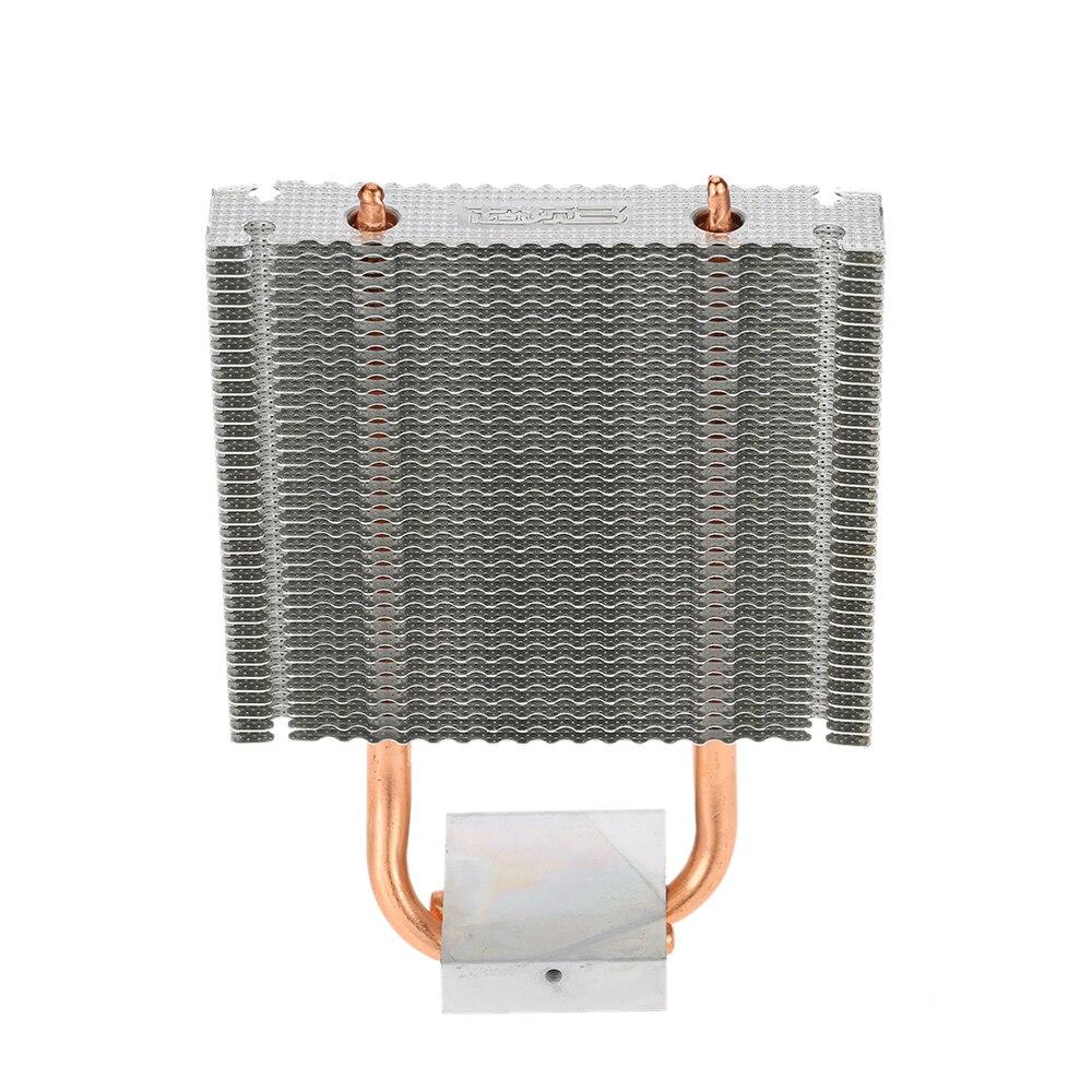 Motherboard Northbridge Cooler 2 Heatpipes Radiator Aluminum Heatsink Southbridge Support 80mm Cooling Fan for Desktop
