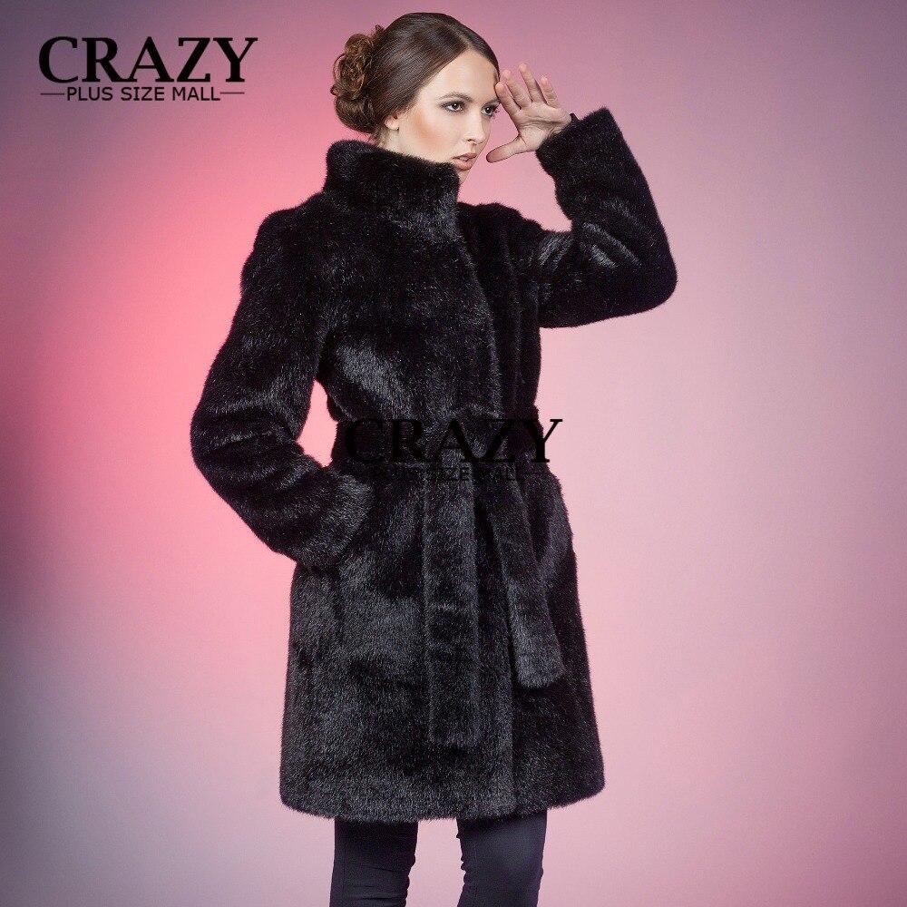 Pour Fourrure 1604 La Noir Vestes Black Lapin Vison 2018 Col De Blanc Les Taille Nouveau 4xl 5xl Plus Vêtements Manteau Montant Luxe Faux Des Long Femmes qUwS4ITg