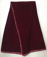 5yards Pcs Plain Deep Maroon Velvet Lace Fabric Simple Design 30 Real Silk For African