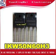จัดส่งฟรี 10pcs IKW50N60H3 K50H603 TO 247