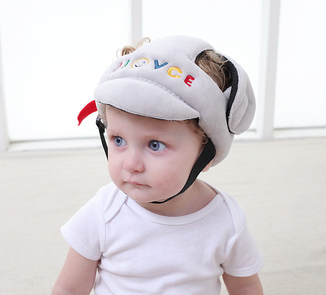 Baby Boy Girls Anti-collision Safety Helmet Head protection Hat kids safety  walk Protective Cap child Children safety helmets 1c118d0a0bf