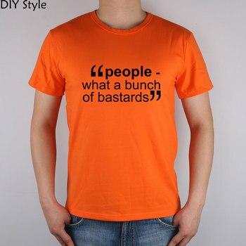 IT CROWD GEEK peopeel qué montón de bastards camiseta algodón Lycra top 9393 moda marca camiseta hombres nuevo estilo DIY de alta calidad