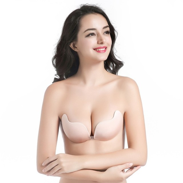 d74be2cc40 Sexy Women Silicone Invisible Bra Fly Bra adhesive Bra Seamless Floral Dot  Push Up Bras Adhesive gather Strapless Lady Bralette