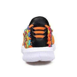Image 4 - BEYARNESummer rahat ayakkabılar kadın için 2019 yeni kadın ayakkabısı el yapımı anne dokuma ShoesBreathable loaferlar üzerinde kayma FemaleFlatsE406