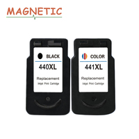 2X PG440 PG 440 441 Compatible Ink Cartridge For Canon PIXMA MX374 MX394 MX434 MX454 MG3240