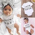 Newborn Baby Boys Girls Cotton Clothes Bodysuit  Jumpsuit Outfit Sunsuit