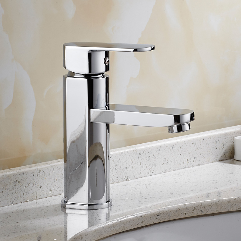 Free Shipping Chrome Basin Faucet brass material Water Mixer Hot and Cold Brief Bathroom sink faucet mixer tap with two hoses bakala free shipping bathroom basin sink faucet wall mounted square chrome brass mixer tap with embedded box lt 320r