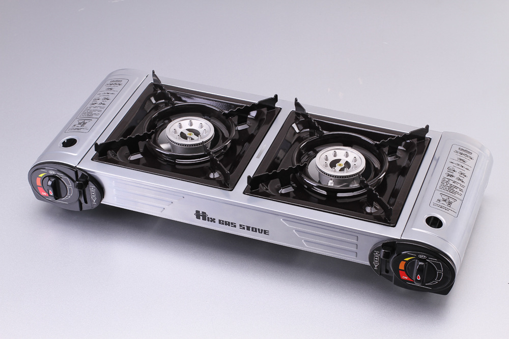 Grillpfanne Für Gasgrill : Doppel protable gasherd camping gas grill grillpfanne platte