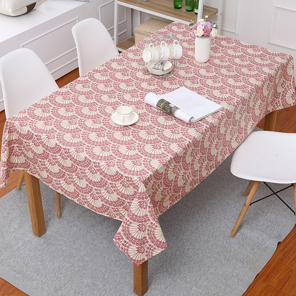 New simple table cloth Nordic style table cloth red fan cotton thickening table cloth dust cover towel home decoration