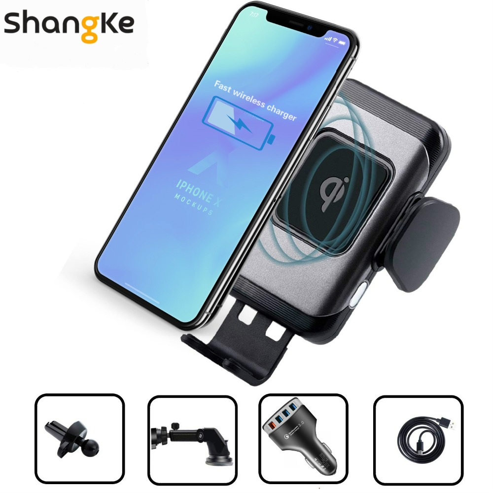 Car-Charger-Automatic-Phone-Holder-10W-7-5W-Fast-Charging-for-iPhone-X-Xs-Max-8