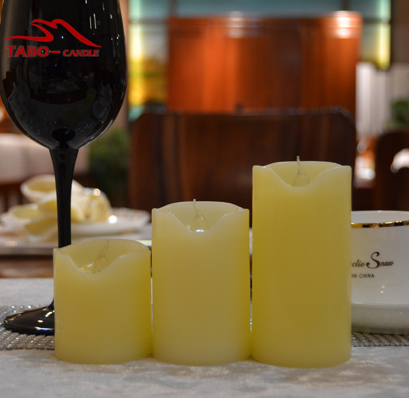 Mini Flameless LED Candles for Christmas Home Decoration Battery Operated with Yellow Flickering Light 3 Pcs/lot
