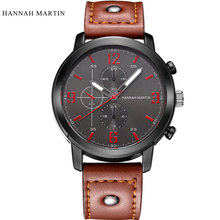 Relogio Masculino Hannah Martin Men's Sports Quartz Watches Luxury Men Watches Analog Military Watch Quartz Male Wristwatches