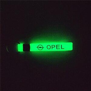 Image 5 - Leucht Auto schlüsselring Auto aufkleber Zubehör Fall Für Opel Astra H G Corsa Insignia Astra Antara Meriva Zafira Zubehör