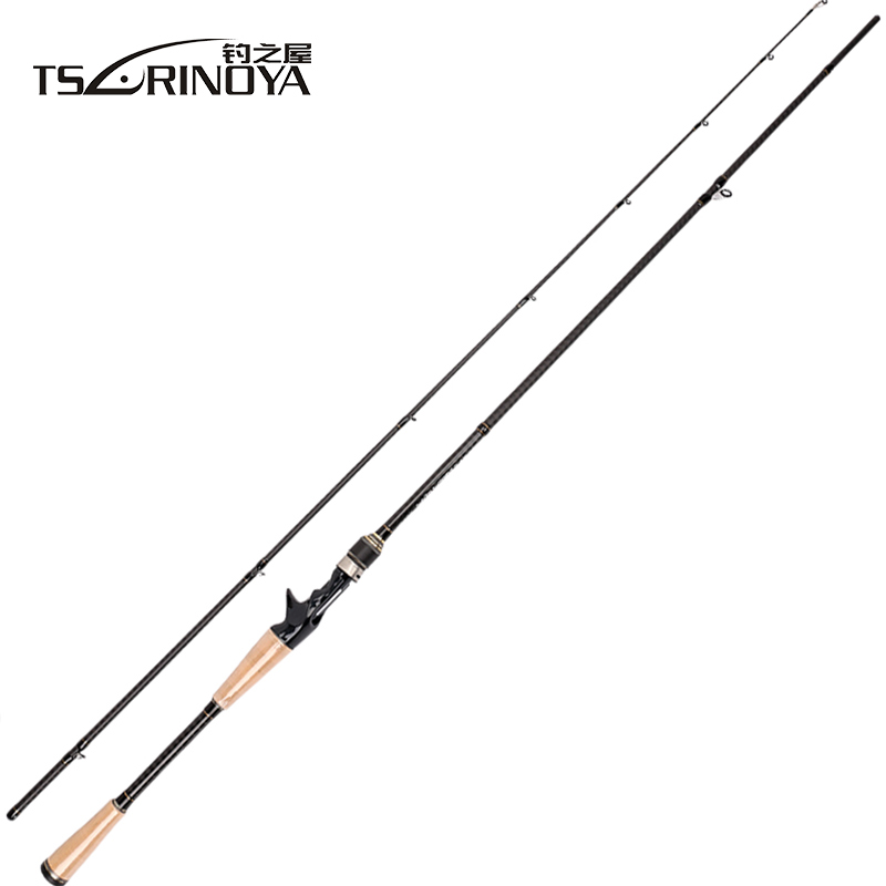 TSURINOYA PROFLEX II 1.89m 1.95m 2.13m Casting Fishing Rod 2 Sec. Carbon Fiber Lure Rod Vara De Pesca Saltwater Fishing Tackle