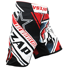 Men s printing VSZAP CONFLICT MMA fight shorts fitness fitness male Muay Thai Polyester Kick Gel