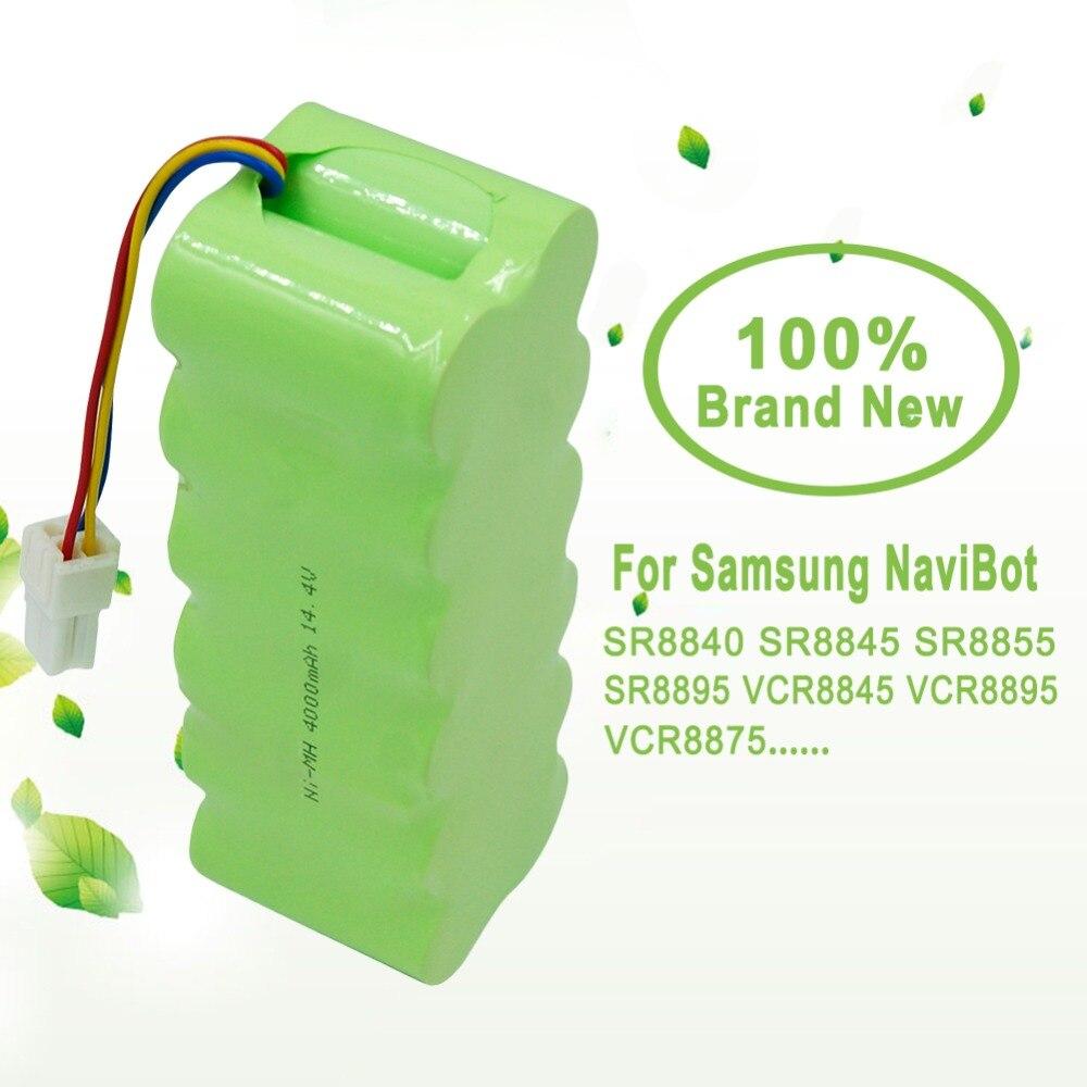 14.4 V 4000 mAh NI-MH aspirateur batterie Rechargeable 4.0 Ah pour Samsung NaviBot SR8840 SR8845 SR8855 SR8895 VCR8845 VCR8895
