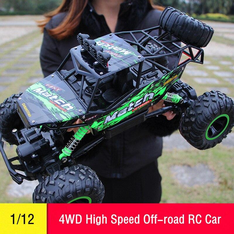 RC автомобилей 1/12 4WD Дистанционное управление Высокое Скорость автомобиля 2.4 ГГц электрический RC Игрушечные лошадки Monster Truck багги для бездорожья Игрушечные лошадки дети-сюрприз подарки