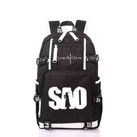 Women Men Anime SAO Sword Art Online Backpack Rucksack Mochila Schoolbag Bag For School Boys Girls