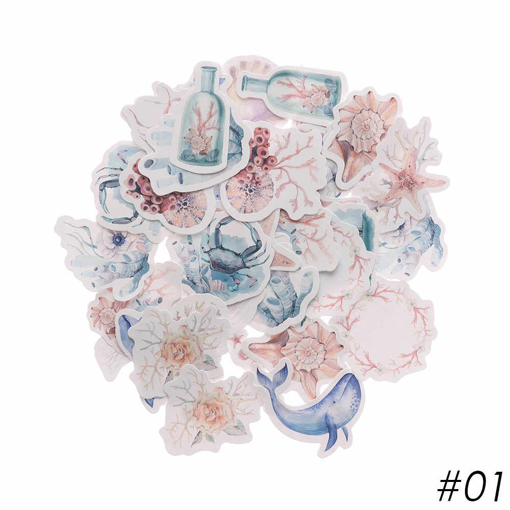 40 шт./упак. многоцветный декоративные бумажные наклейки цветок фрукты дневник в стиле Скрапбукинг Декор наклейки школьные канцелярские принадлежности