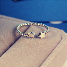 Classic Vintage 925 Silver Luxury Unique Double Star Rings Twist Rings Fashion Design For Women Gift