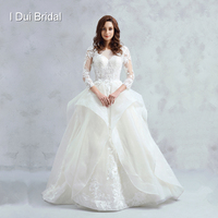 Long Sleeve Ball Gown Wedding Dress Lace High Quality Bridal Gown SC 333