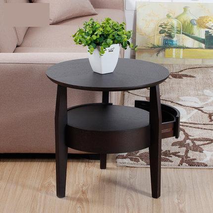 Meja Kopi Kecil Bundar Kayu Ruang Tamu Sederhana Sofa Sisi Dengan Laci Teh Di Dari Furniture Aliexpress Alibaba Group