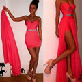 2016 New Fashion Stylish Ladies Sexy Strapless Slim Casual Formal Evening Party Dress