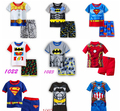 2016 Calças Pijamas de verão Pijama Hulk Para Meninos Super Herói Batman Spiderman Batman Iron Man Treino Pijamas Sleepwear Ternos
