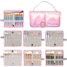Hot 10pcs Spiral Makeup Brushes Set with Bag Foundation Eyeshadow Base Powder Blush Blending Case Brush Cosmetic