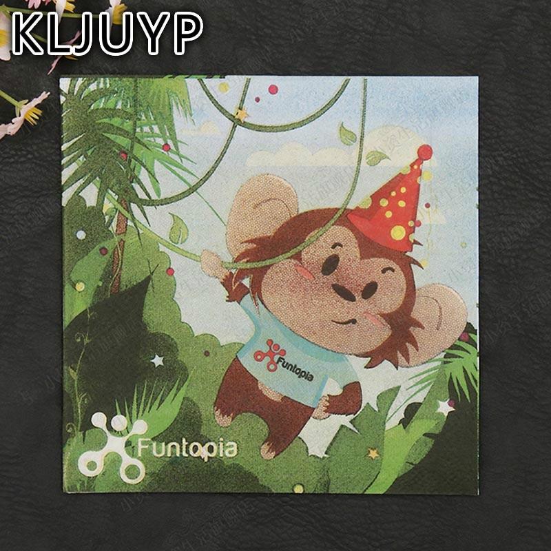 Tres capas 20 unids Monkey Forest Guardanapo Festivo y Fiesta Servilletas De Pap
