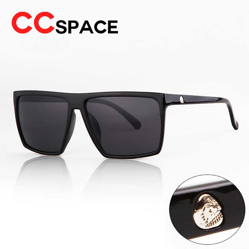 64cb340c5e New 2018 Steampunk Square Sunglasses Men SKULL Logo All Black Coating Sun  Glasses Women Brand Designer