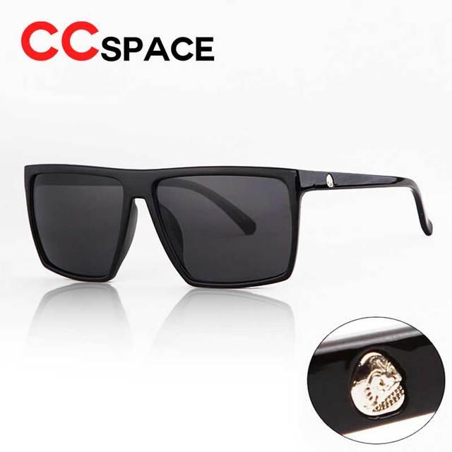 a904617aa11f7 Nuevo 2018 Gafas De Sol cuadradas Steampunk con logotipo De calavera para  hombre