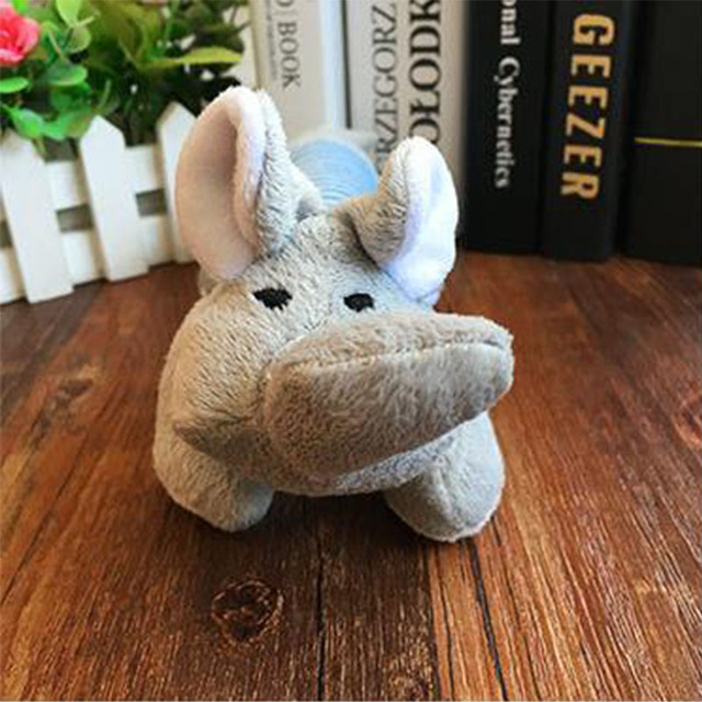 Popular Pet Dog Cat Funny Fleece Durability Plush Dog Toys Squeak Chew Sound Toy Fit for All Pets Elephant Duck Pig Plush Toys 5
