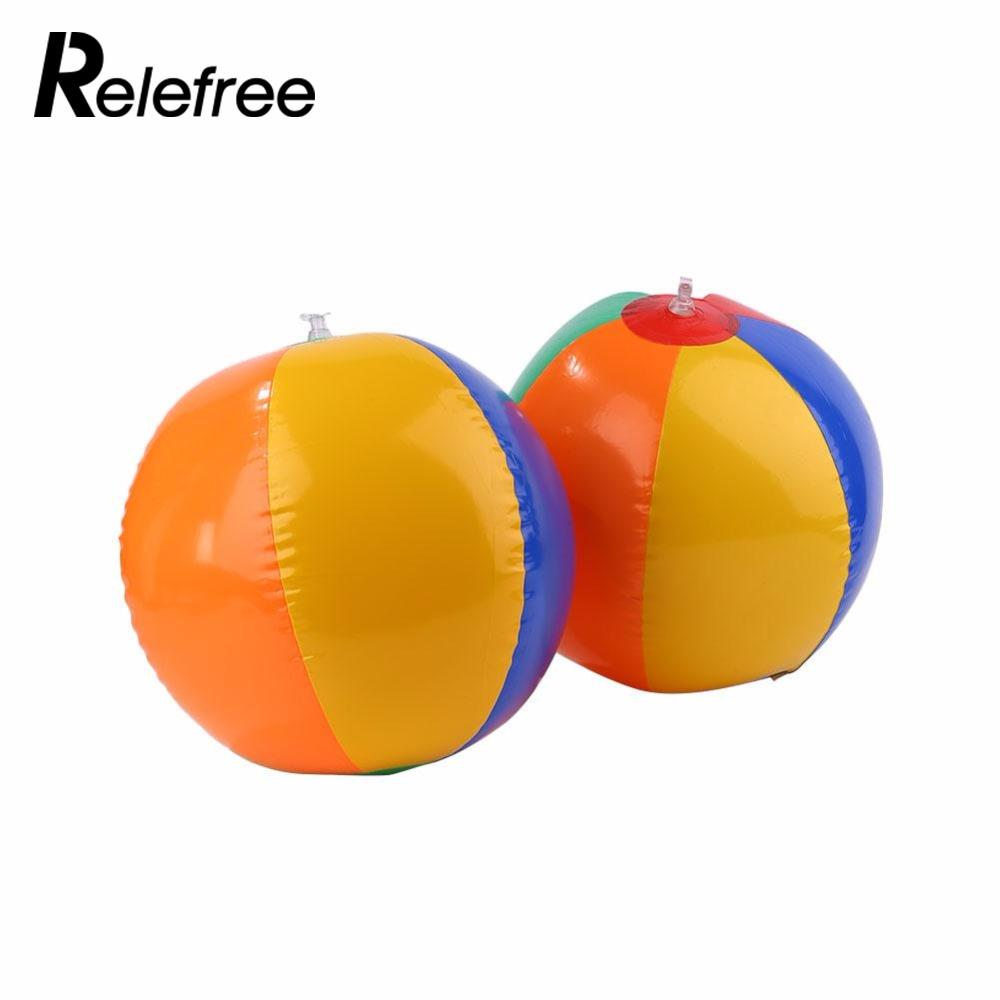 Relefree 2017 New Colored Inflatable 23cm Ball Balloons Swimming Pool Play Party Beach Sport Water Game Kids Funny Toy