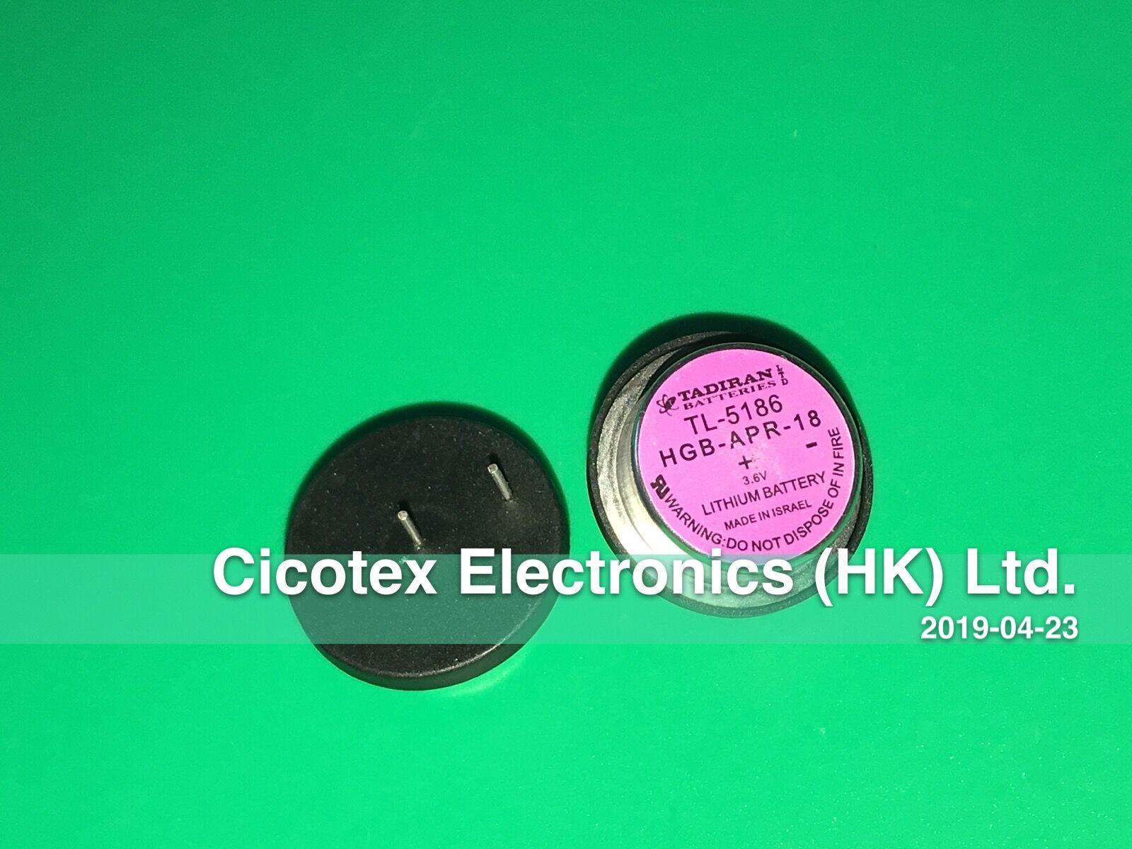 TL-5186 DIP2 BATTERY LITH 3.6V WAFER 22.8MM TL5186 HGB-APR-18