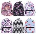 Moda Trendy Portfolio Mochila Impressão Mini Oxford Mochila de Viagem Escola Bag Ladies Bolsas de Ombro Mochila Escolar Mochila