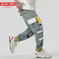 Aelfric Eden Fashion Plastic Transparent Multi Pockets Stitch Cargo Pants Hip Hop Cool Casual Sweatpants Streetwear Joggers