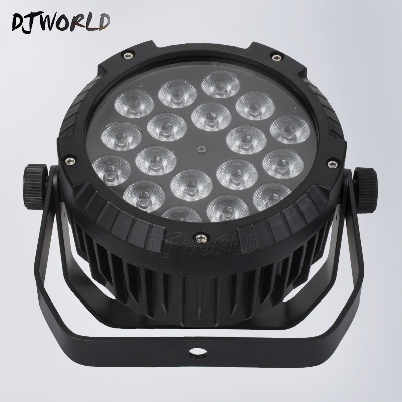 10pcs/lot Waterproof LED Flat Par 18x12W RGBW DMX512 Stage Effect Lighting For Outdoor Swimming Pool DJ Disco Party Dance Floor
