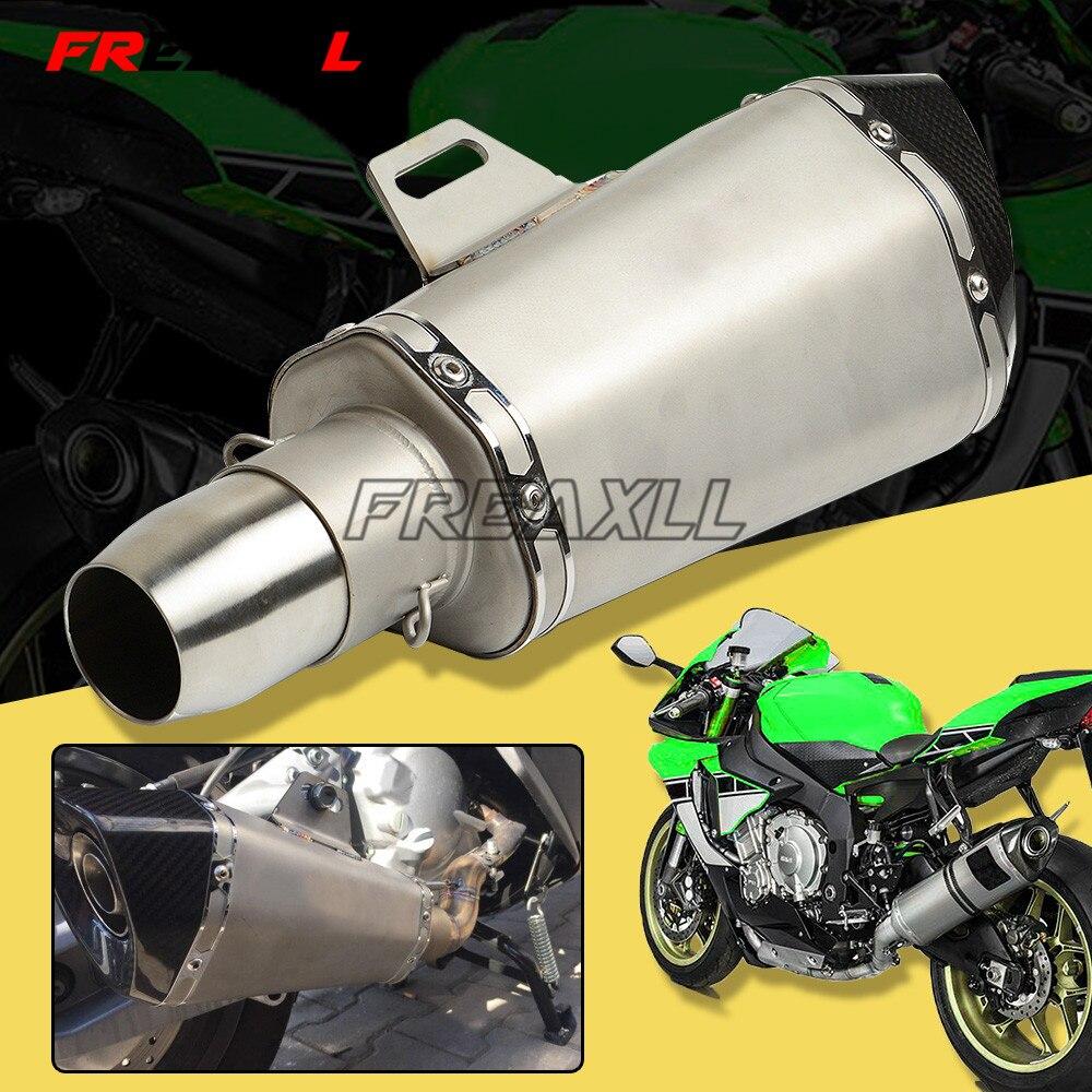36-51 MM Modifiées Universelles Tuyau D'échappement Silencieux Scooter Pour Yamaha YZF R1 R3 R6 R125 MT 25 03 YZF600R YBR125 FZ6 XJ6 fz 6 R 1 3
