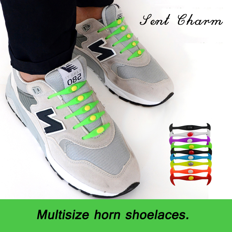 SENT CHARM Creative Design No Tie Shoelaces Fashion And Free shoelaces Elastic For Sneakers 12 pcs