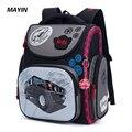 2018 Детский рюкзак детские школьные ранцы для мальчиков с рисунком 3D Школьный Рюкзак Для ортопедических рюкзаков черный Bolsa Escolar