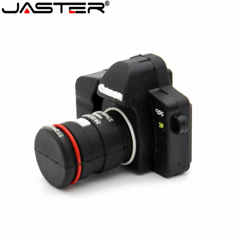 JASTER Hot SLR camera USB flash drive Camera pendrive cartoon usb stick mini pen drive 64GB 32GB 16GB memory stick free shipping
