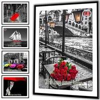 25 Optional Pictures DIY Diamond Painting Cross Stitch Needlework Diamond Mosaic Diamond Embroidery Flowers Rose Crafts