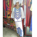 AFRICAN DRESSES FOR WOMEN african bazin riche design dresses short rapper with scarf three pcs one set