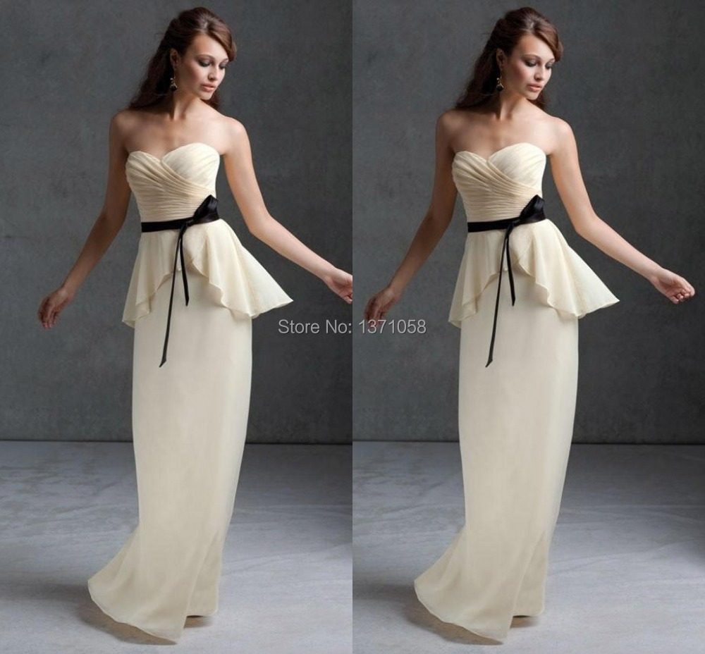 Online get cheap peplum dress bridesmaids aliexpress 2017 elegant formal bridesmaid dress with beautiful peplum sweetheart ruched bow sash chiffon dress custom made ombrellifo Gallery